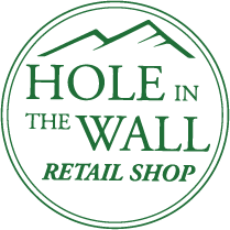 Hole In The Wall Retail Shop Logo